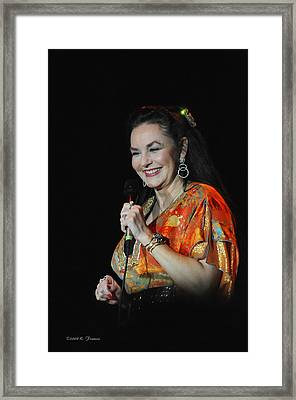 Crystal Gayle Framed Print by Kenny Francis