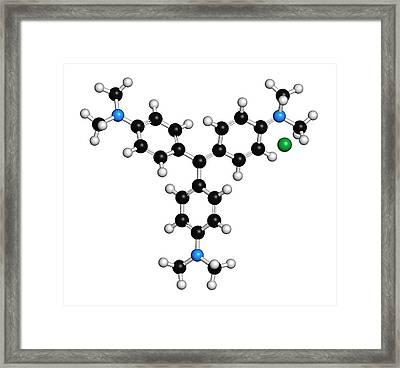 Crystal Gentian Violet Molecule Framed Print