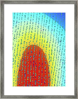 Crystal Growing Framed Print by Ammrf, University Of Sydney