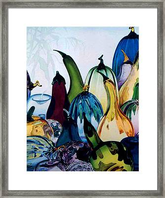 Crystal Harvest Framed Print by Eve Riser Roberts