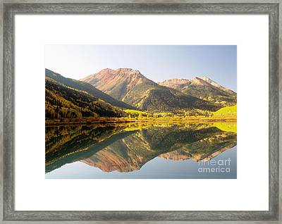 Crystal Lake And Red Mountain Framed Print by Alex Cassels