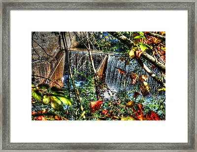 Crystal Lake Falls Framed Print