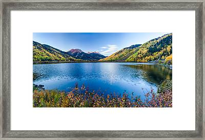 Crystal Lake Surrounded By Mountains Framed Print by Panoramic Images