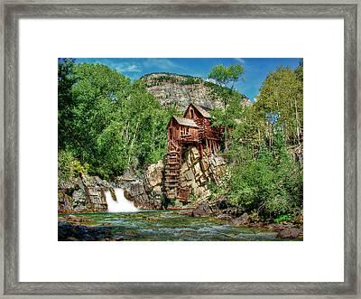 Crystal Mill Crystal Colorado Framed Print by Ken Smith