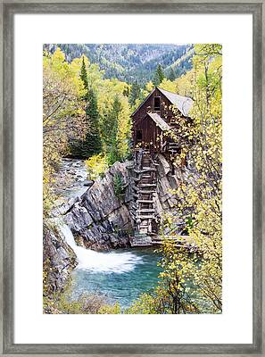 Crystal Mill Is Perched Precariously Framed Print by Robbie George