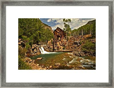Crystal Mill Landscape Framed Print by Adam Jewell