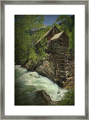 Crystal Mill Framed Print by Priscilla Burgers