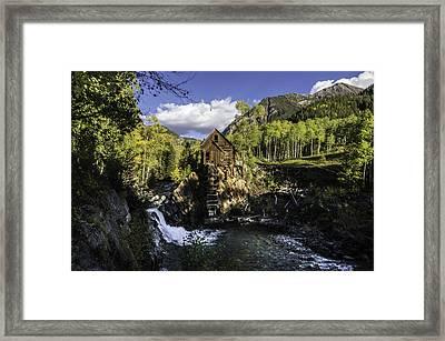 Crystal Mills Mine Framed Print