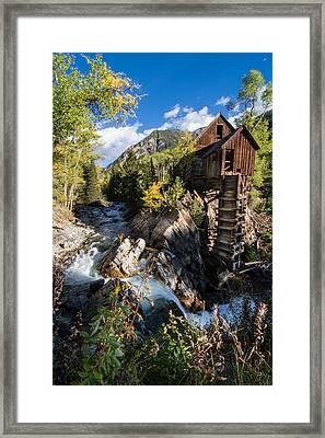 Crystal Mills Vertical Framed Print by Michael J Bauer