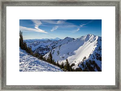 Crystal Mountain And Mt Adams Framed Print