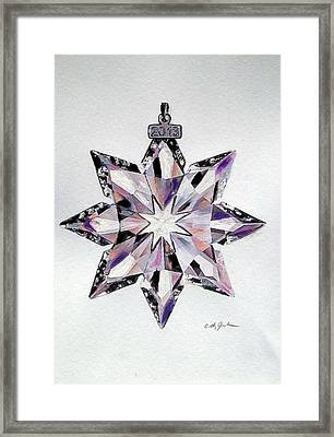 Crystal Ornament Framed Print