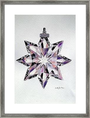 Crystal Ornament Framed Print by Cathy Jourdan
