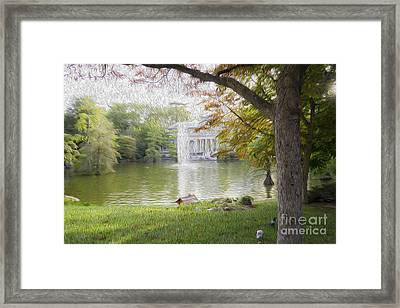 Crystal Palace In Retire's Park Oleo Framed Print
