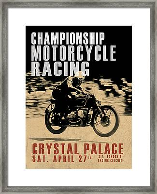 Crystal Palace Motorcycle Racing Framed Print by Mark Rogan