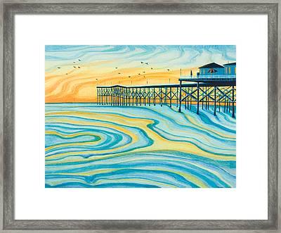 Crystal Pier San Diego Framed Print by Emily Brantley