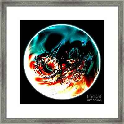 Crystal Planet Framed Print by Bernard MICHEL