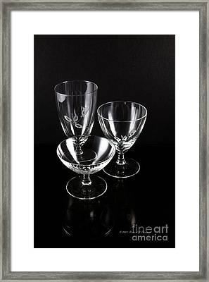 Crystal Reflection Framed Print
