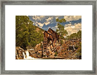 Crystal River And Crystal Mill Framed Print by Adam Jewell