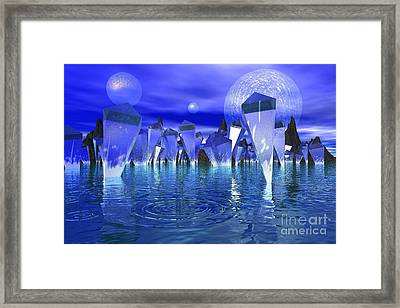 Framed Print featuring the photograph Crystal River by Mark Blauhoefer