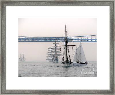 Crystal Ships On The Water Nyc Framed Print by Ed Weidman