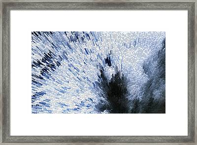 Crystal Star - Black And White Abstract Art By Sharon Cummings Framed Print