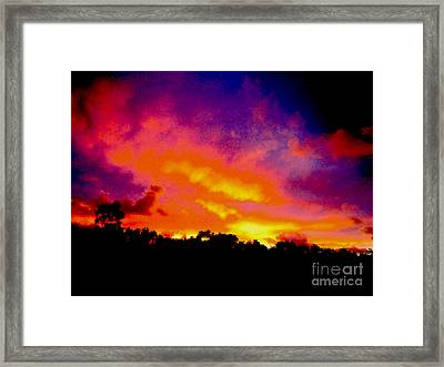 Framed Print featuring the photograph Crystal Sunrise by Mark Blauhoefer