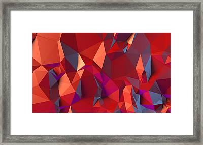 Crystal Volcanic Framed Print