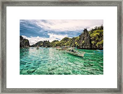 Crystal Water Fun Land Framed Print