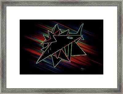 Crystal White Framed Print