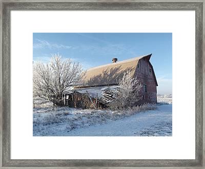 Crystaline Barn Framed Print by Bonfire Photography