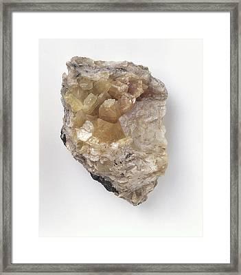 Crystalline Brucite In Groundmass Framed Print by Dorling Kindersley/uig
