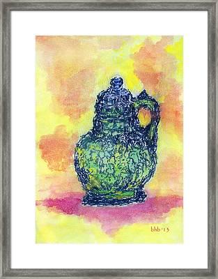 Crystalline Chartreuse Framed Print