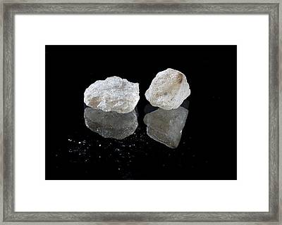 Crystalline Mdma Framed Print by Victor De Schwanberg