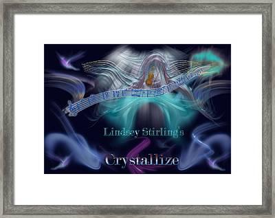 Crystallize Framed Print by Becca Buecher