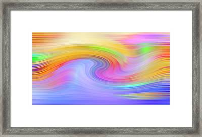 Crystals Abstract - Color Wave Framed Print by Steve Ohlsen