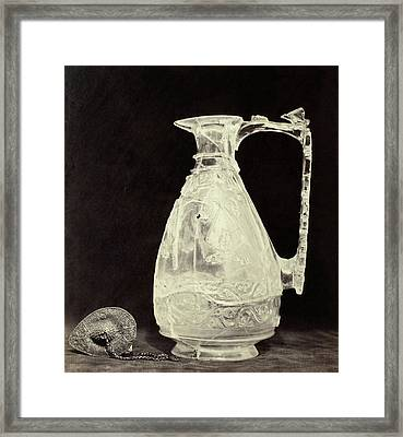 Crystals Jug With Metal Stopper Out Of The Louvre Framed Print by Artokoloro