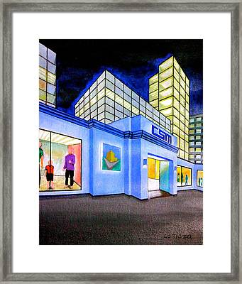 Framed Print featuring the painting Csm Mall by Cyril Maza