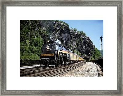 Chessie Steam Special At Harpers Ferry Framed Print