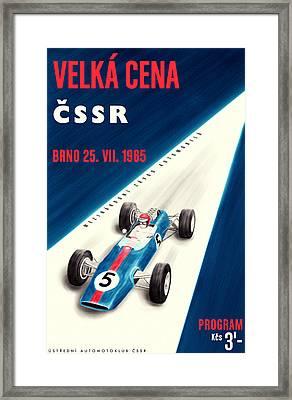 Cssr Grand Prix 1965 Framed Print