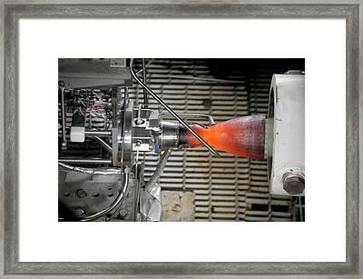 Cst-100 Spacecraft Testing Framed Print by Nasa/pratt And Whitney Rocketdyne