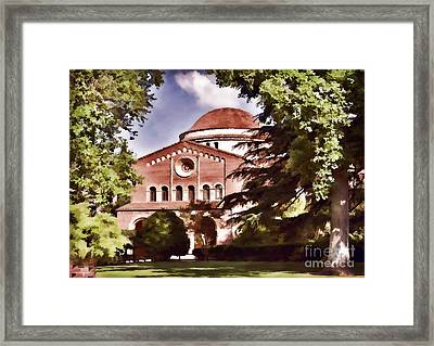 Csu Chico Framed Print by Kathleen Gauthier