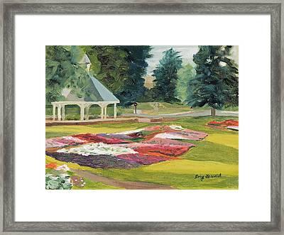 Csu Trial Gardens At Dawn Framed Print