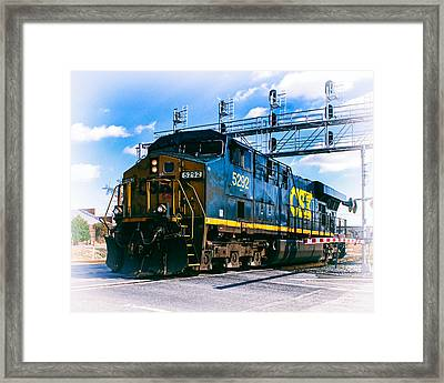 Csx 5292 Warner Street Crossing Framed Print