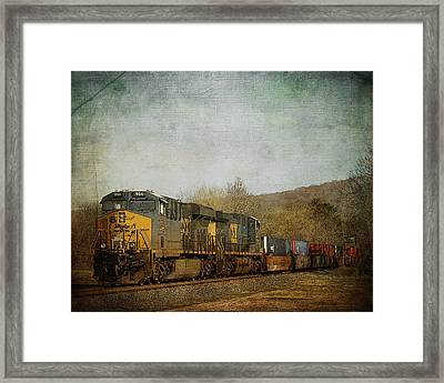 Csx Freight Train Vintaged Framed Print by TnBackroadsPhotos