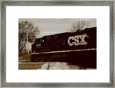Csx Rail Line By Earl's Photography Framed Print by Earl  Eells a