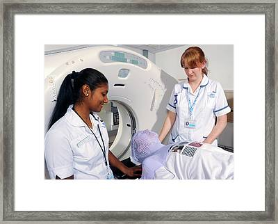 Ct Scanning For Radiotherapy Framed Print by Public Health England