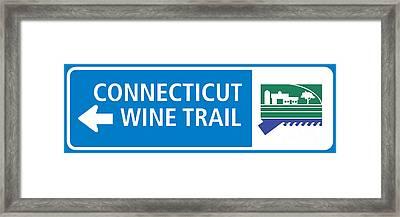 Ct Wine Trail Blue Left Framed Print