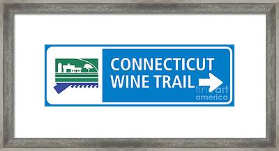 Ct Wine Trail Blue Right Framed Print