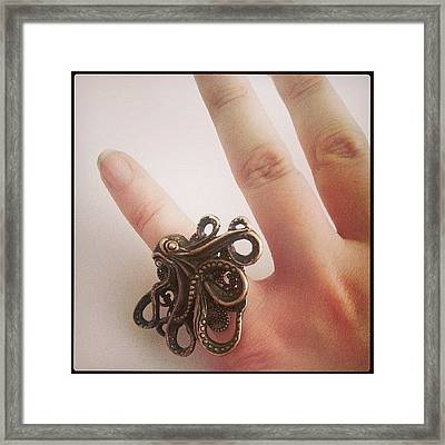 #cthulhu #ring ♥ #octopus #jewelry Framed Print