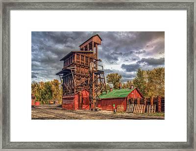 Coal Tipple Framed Print